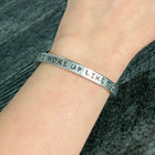 SECONDS SALE -- I WOKE UP LIKE THIS Stamped Bracelet