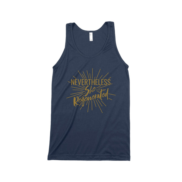 NEVERTHELESS, SHE REGENERATED Unisex Tank Top