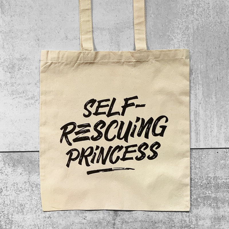 SELF-RESCUING PRINCESS Tote Bag