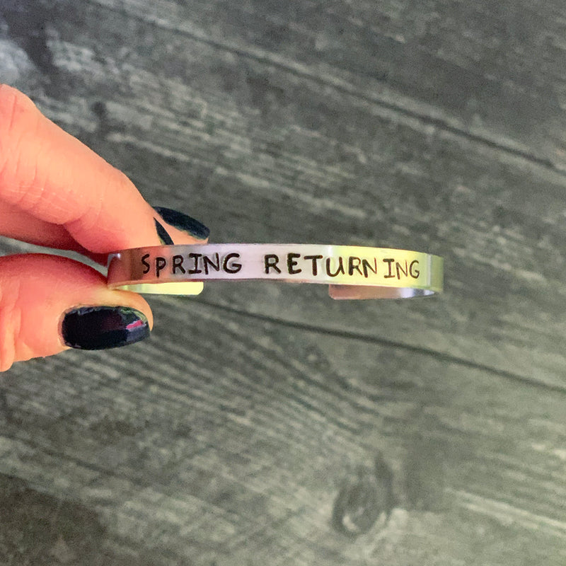 SECONDS SALE -- SPRING RETURNING Stamped Bracelets
