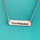 SECONDS NECKLACE SALE -- THUNDERBIRD Stamped Necklace