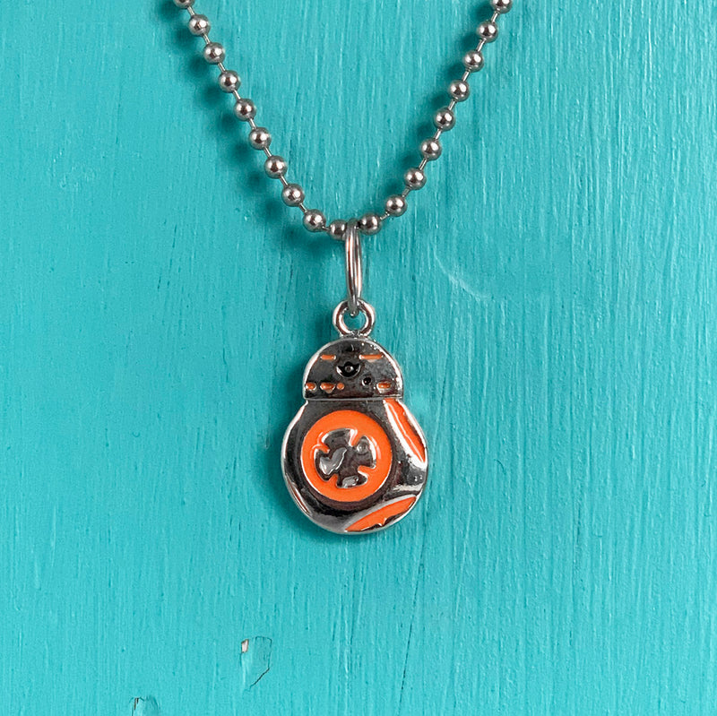 SECONDS NECKLACE SALE -- TEENY BB8 Necklace