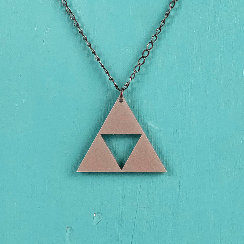 SECONDS NECKLACE SALE -- TRIFORCE Acrylic Necklace