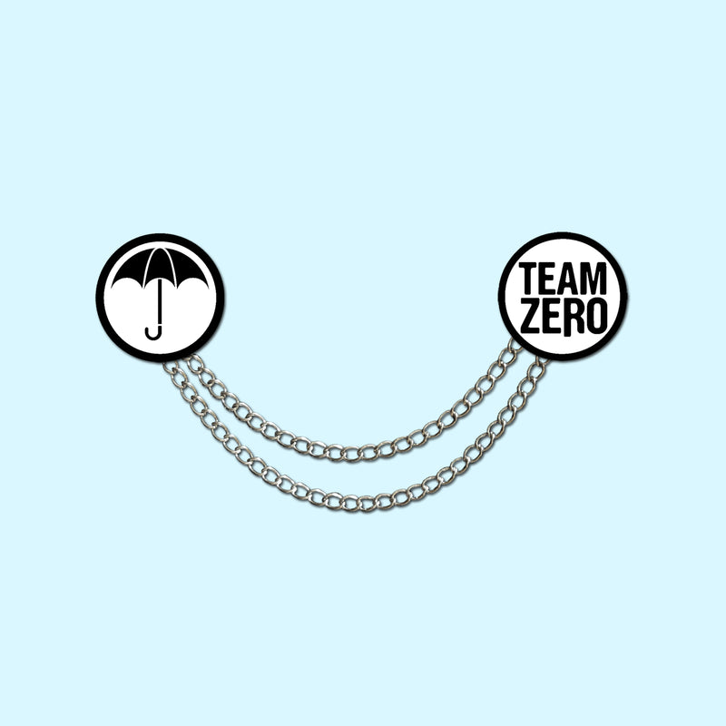 UMBRELLA / SPARROW / TEAM ZERO Lapel Pin Collar Chain Set