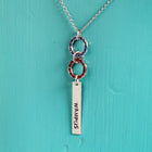 SECONDS NECKLACE SALE -- JEWELED WAMPUS  Stamped Necklace