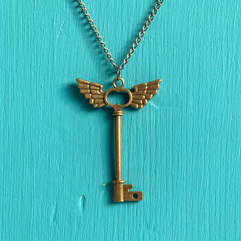 SECONDS NECKLACE SALE -- FLYING KEY Necklace