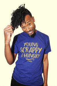 SALE -- Young and Scrappy American Apparel unisex tshirt, sizes S - 2XL