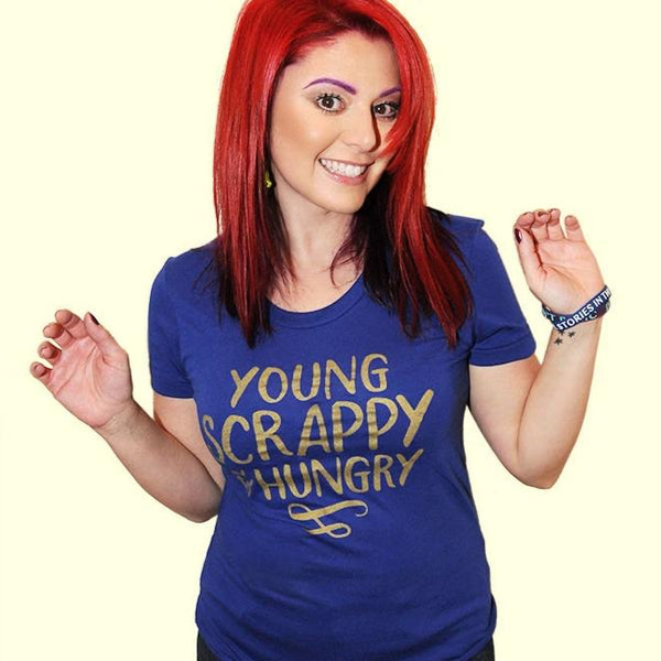 YOUNG & SCRAPPY Women/Junior Fitted T-Shirt
