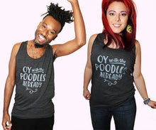 SALE -- Poodles shirt.  American Apparel unisex tank top,  sizes extra small, small, medium, large, and XL.