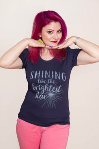 SALE -- SHINING shirt.  Women's fitted, sizes small to XL