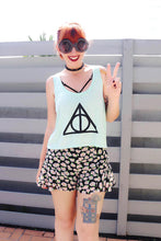 DEATHLY SYMBOL Flowy Crop Top