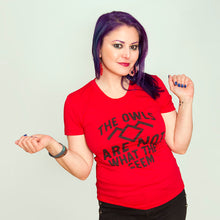 SALE -- Shady Owls.  Women's fitted sizes small to XL