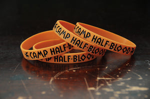Greeky Geeky Silicone Bracelets.  Camp Half-Blood or Camp Jupiter bracelets.  Whose camp are you in??