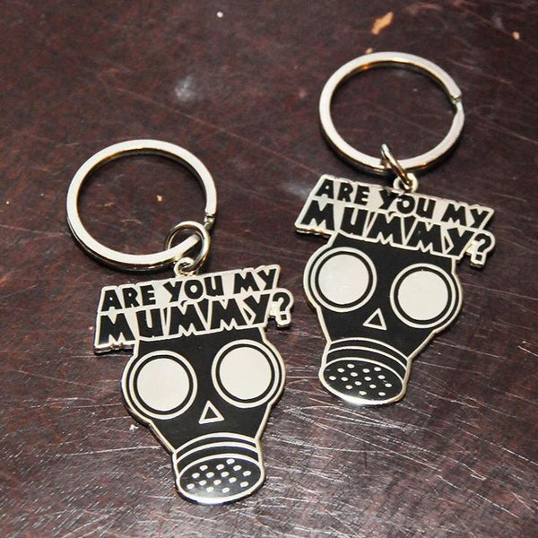 SALE!!  MUMMY Keychain, slightly imperfect