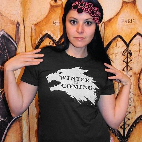WINTER IS COMING Women/Junior Fitted T-Shirt