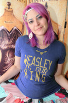 GEEKY KING Women/Junior Fitted T-Shirt