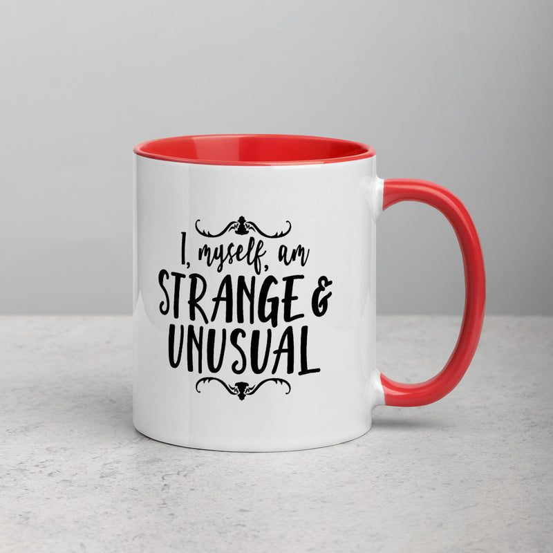 STRANGE AND UNUSUAL Mug with Color Inside