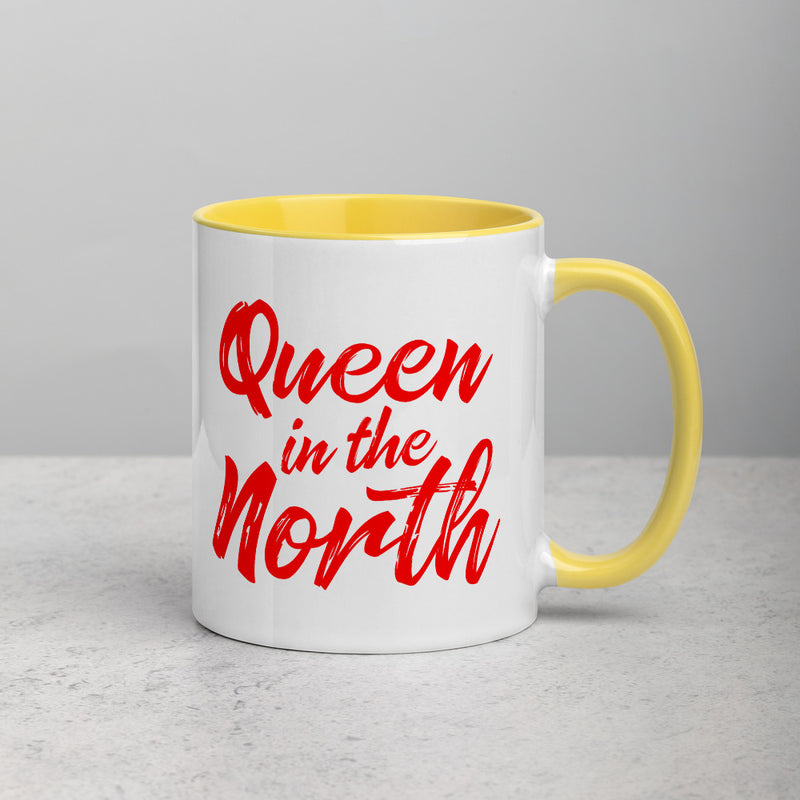 QUEEN IN THE NORTH Mug with Color Inside