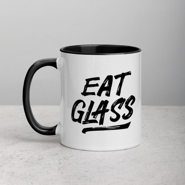 EAT GLASS Mug with Color Inside