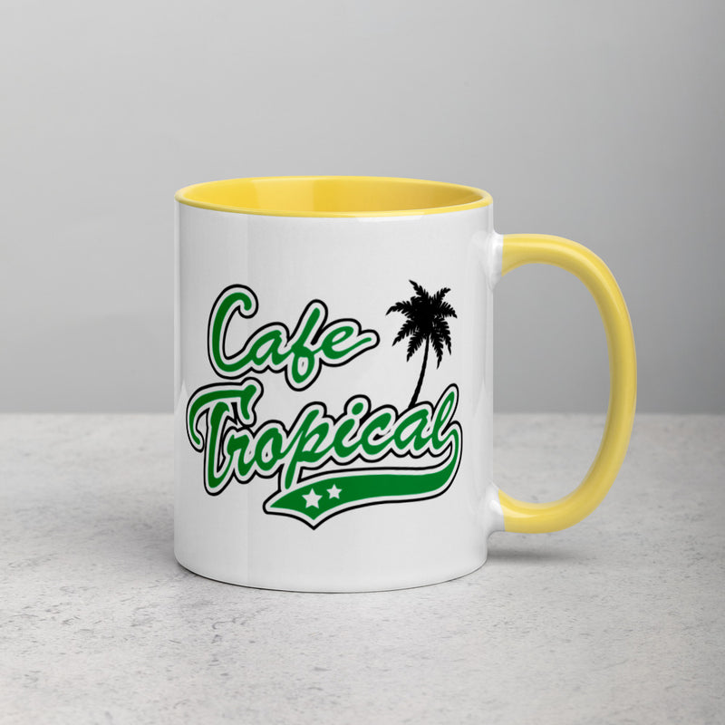 CAFE TROPICAL Mug with Color Inside
