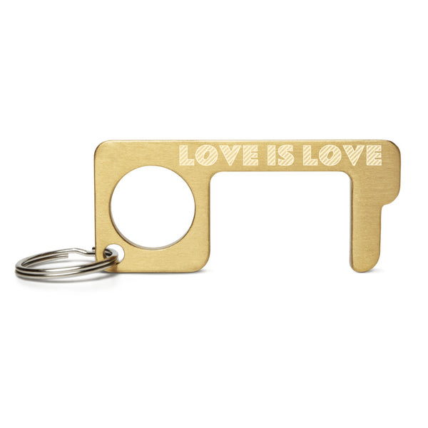 LOVE IS LOVE Engraved Brass Touch Tool
