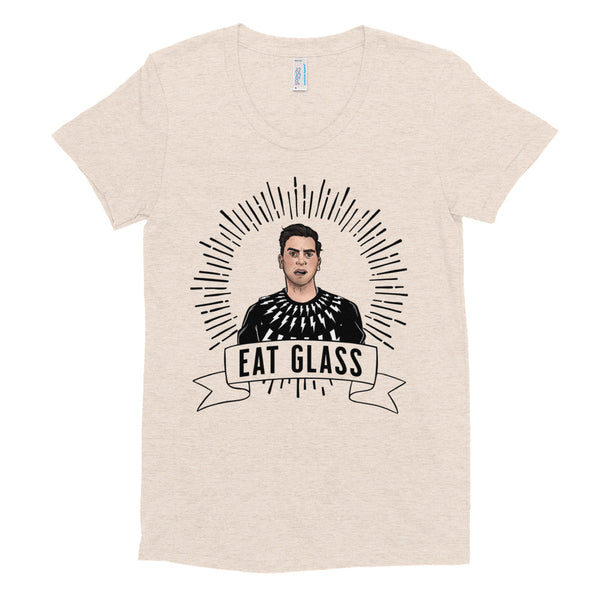 EAT GLASS Women/Junior Fitted T-Shirt