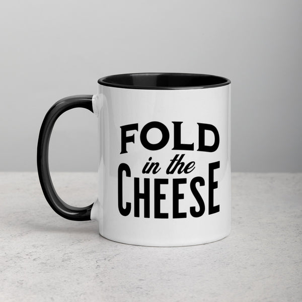 FOLD IN THE CHEESE Mug with Color Inside