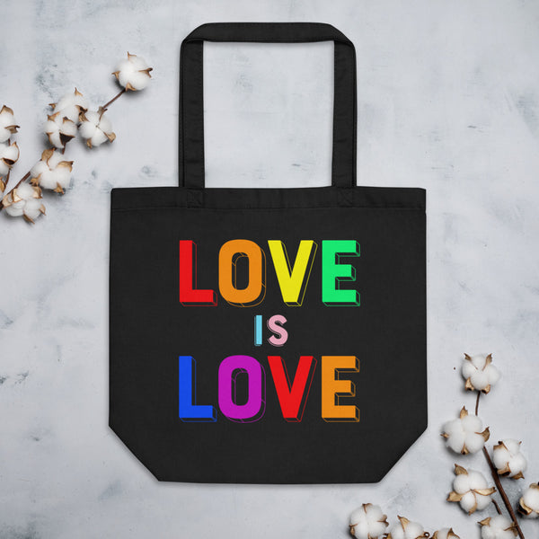 LOVE IS LOVE, 2 Eco Tote Bag