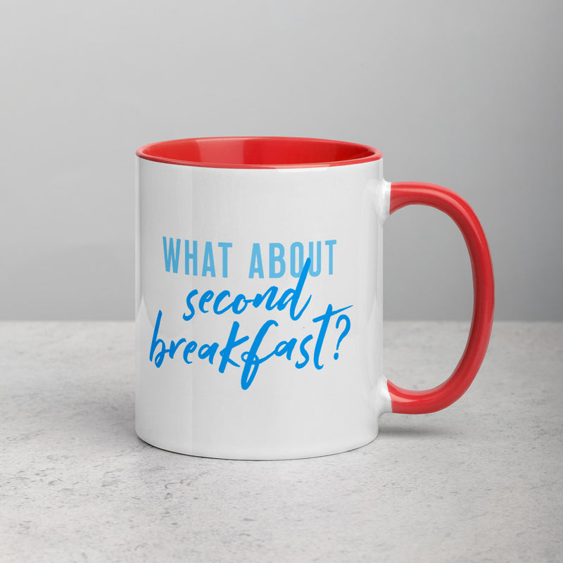 SECOND BREAKFAST Mug with Color Inside