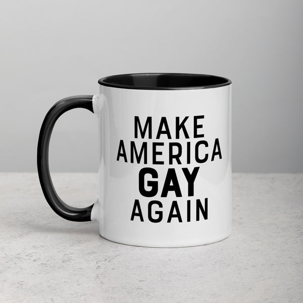 MAKE AMERICA GAY AGAIN Mug with Color Inside