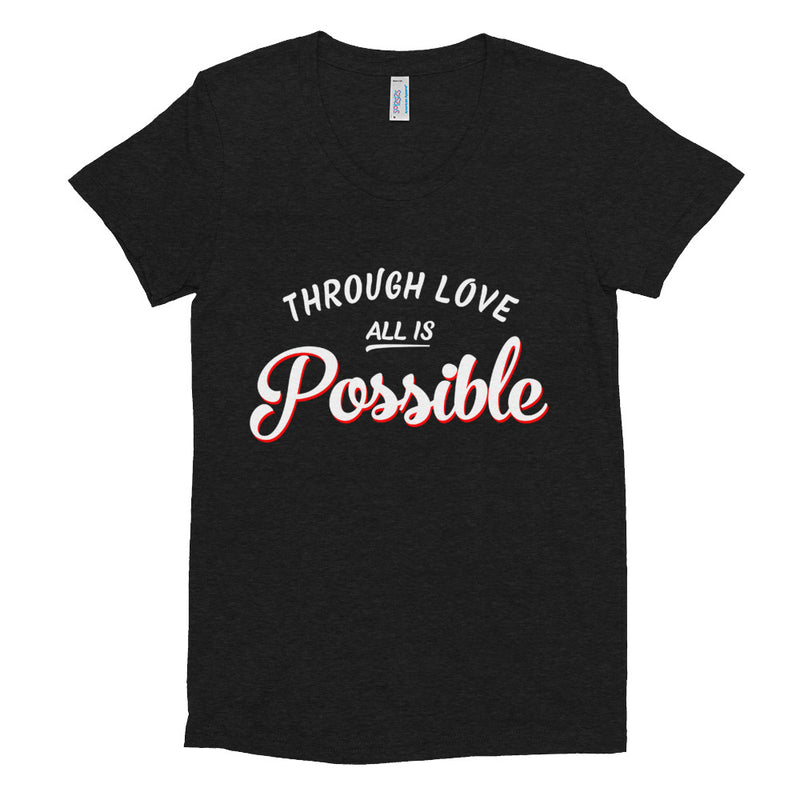 ALL IS POSSIBLE Women/Junior Fitted T-Shirt