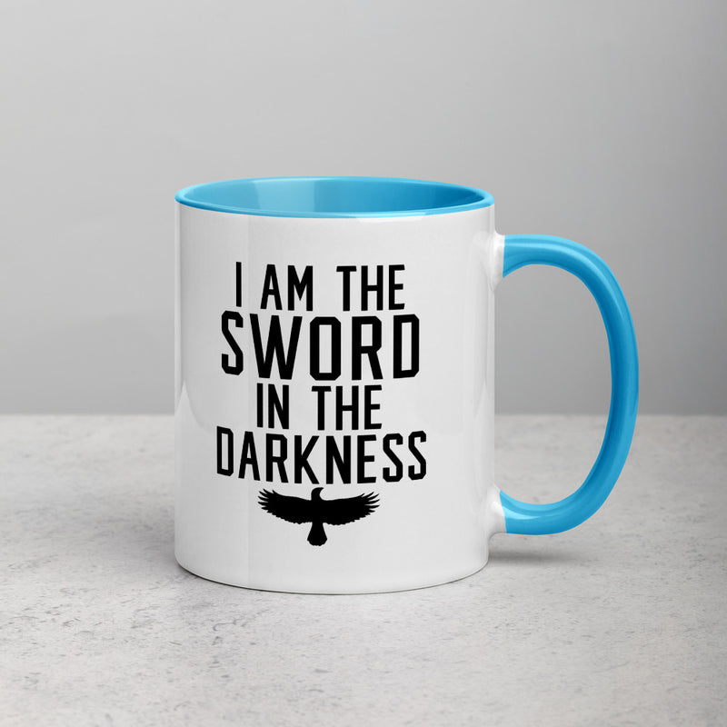 SWORD IN THE DARKNESS Mug with Color Inside