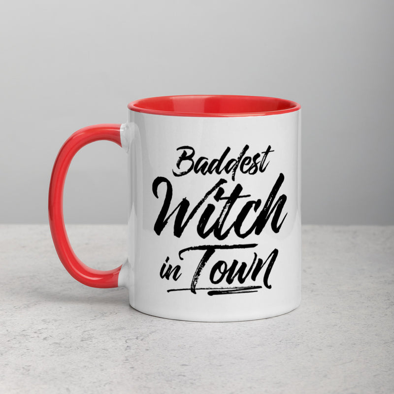 BADDEST WITCH IN TOWN Mug with Color Inside
