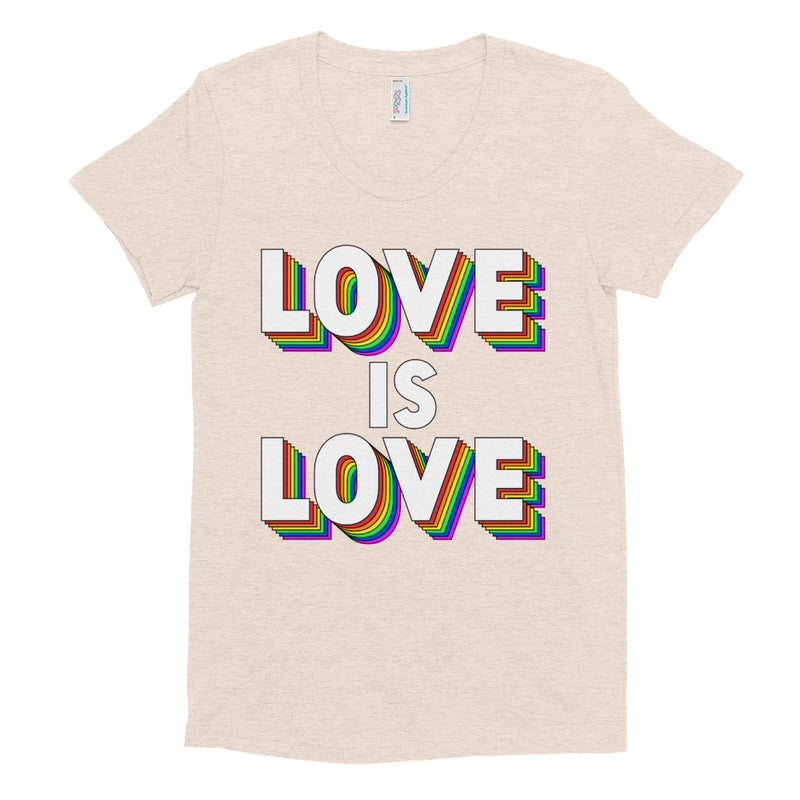 LOVE IS LOVE Women/Junior Fitted T-Shirt