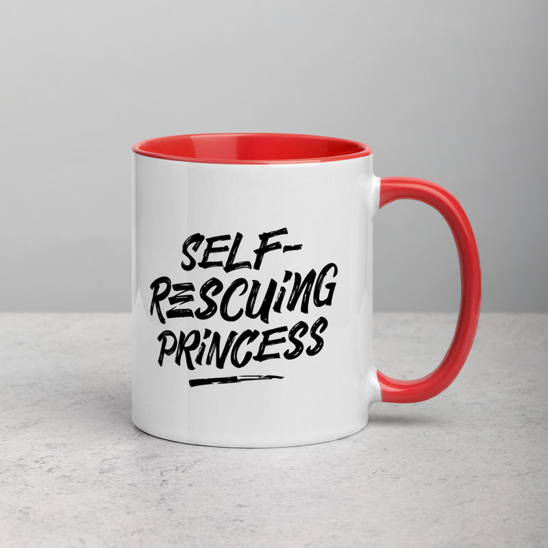 SELF-RESCUING PRINCESS Mug with Color Inside