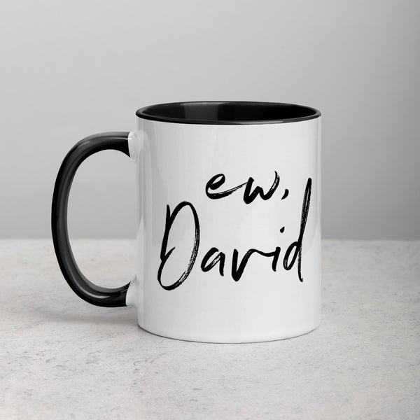 EW, DAVID Mug with Color Inside
