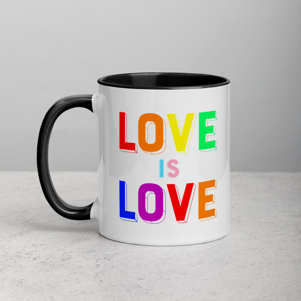 LOVE IS LOVE, 2 Mug with Color Inside