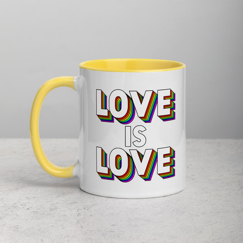 LOVE IS LOVE Mug with Color Inside