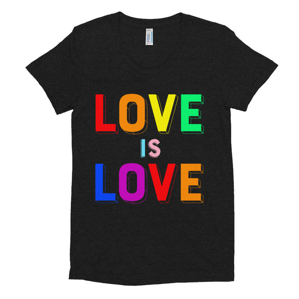 LOVE IS LOVE, 2 Women/Junior Fitted T-Shirt