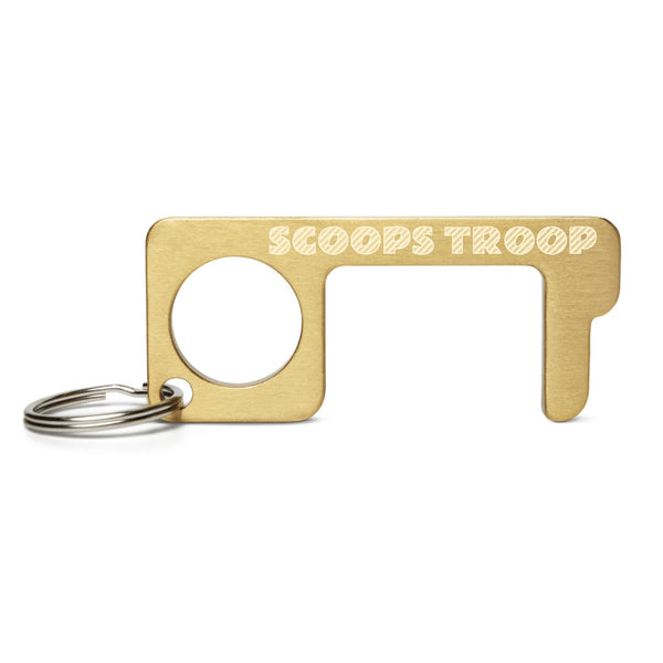 SCOOPS TROOP Engraved Brass Touch Tool