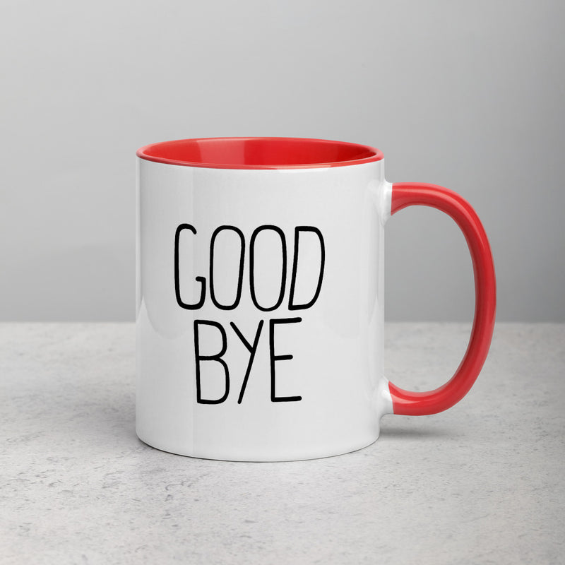 HELLO / GOOD BYE Mug with Color Inside