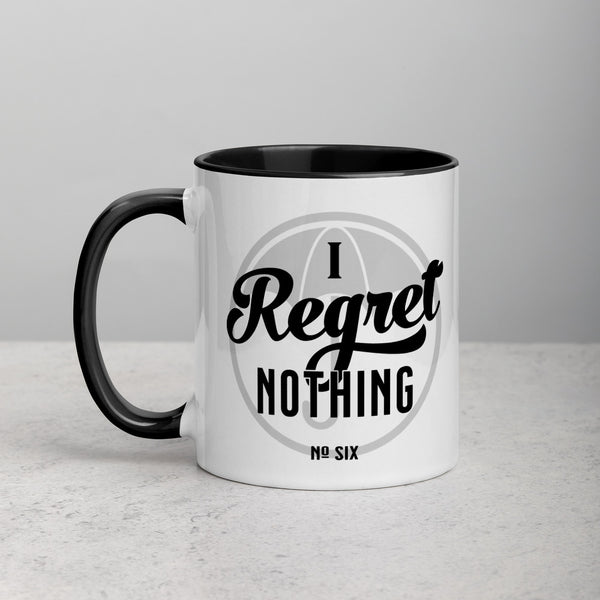 I REGRET NOTHING Mug with Color Inside