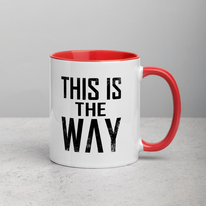 THIS IS THE WAY Mug with Color Inside