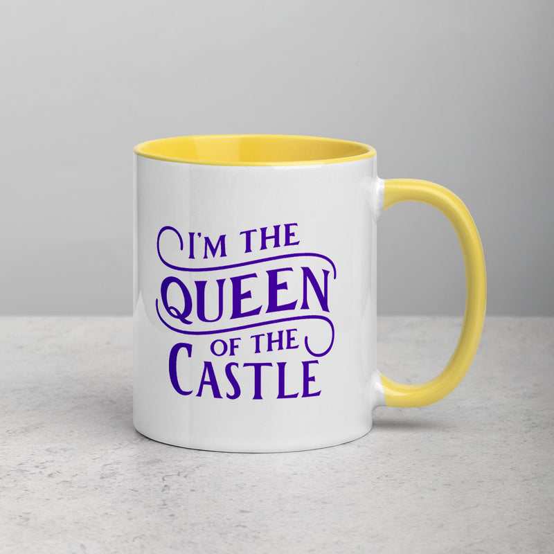 QUEEN OF THE CASTLE Mug with Color Inside