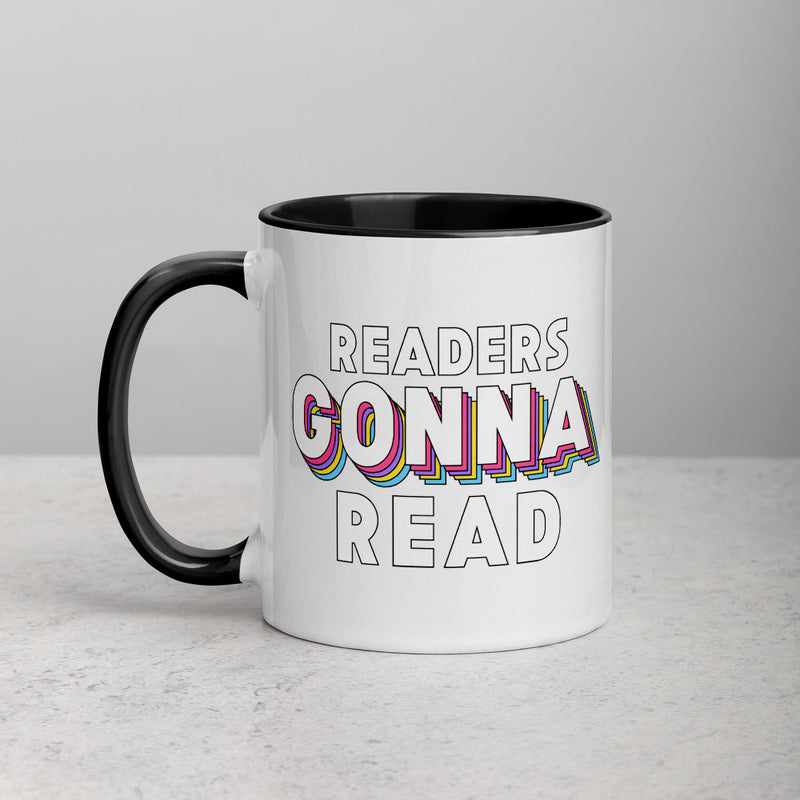 READERS GONNA READ Mug with Color Inside