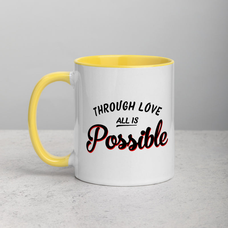 ALL IS POSSIBLE Mug with Color Inside