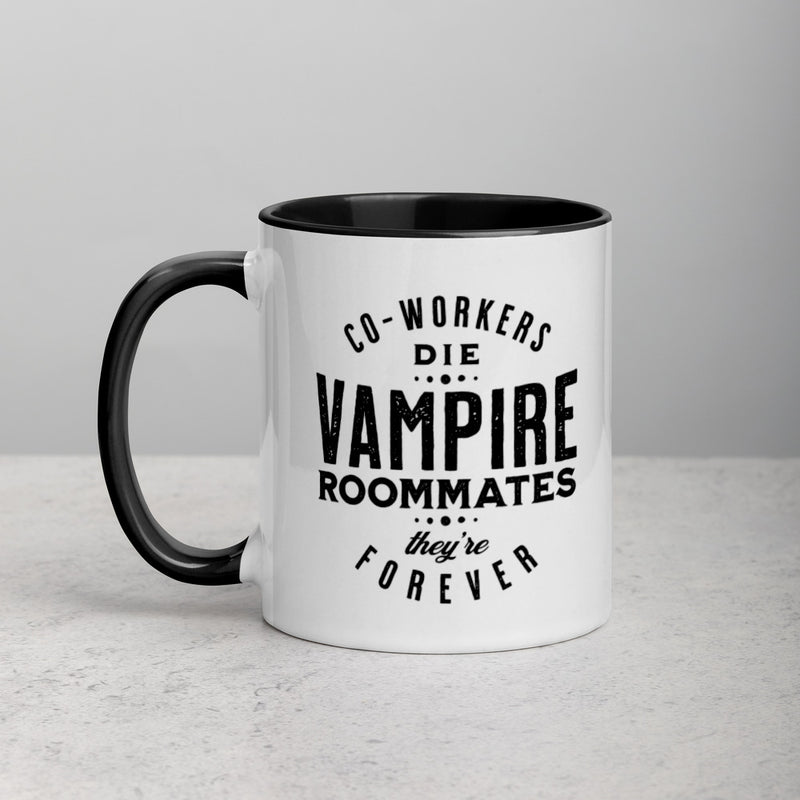 VAMPIRE ROOMMATES, THEY'RE FOREVER Mug with Color Inside