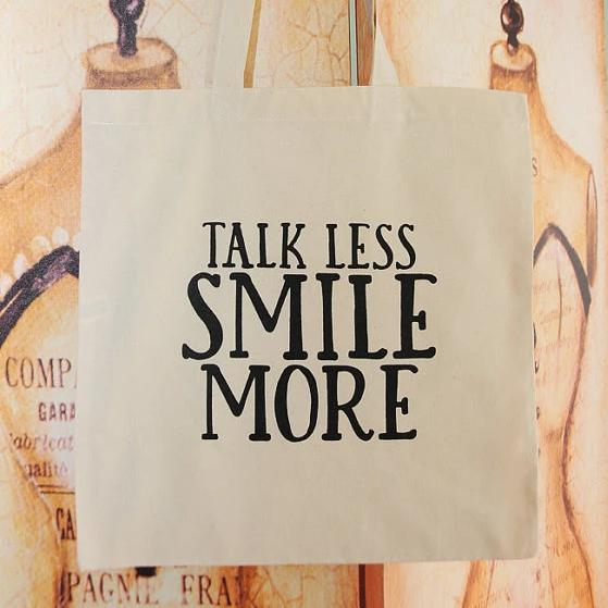 TALK LESS tote bag