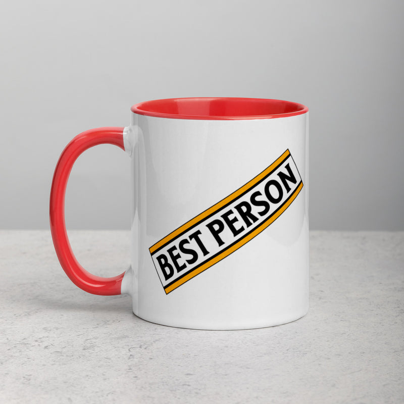BEST PERSON Mug with Color Inside