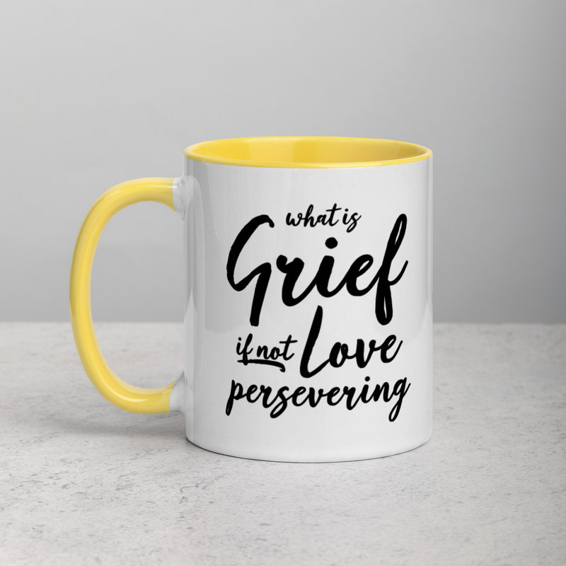 LOVE PERSEVERING Mug with Color Inside